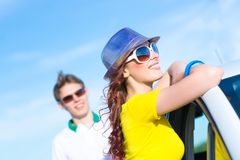 Young attractive woman in sunglasses Royalty Free Stock Photos