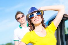Young attractive woman in sunglasses Stock Photo