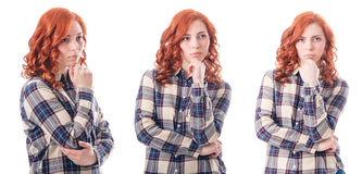 Young Attractive Woman Thinking Royalty Free Stock Photo
