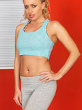 Young Attractive Woman Wearing Fitness Clothing Stock Images