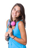 Young attractive woman wearing headphones Royalty Free Stock Photo