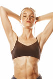 Young attractive woman wet long hair after workout Royalty Free Stock Photography