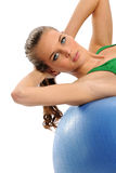 Young Attractive woman working out Royalty Free Stock Photos