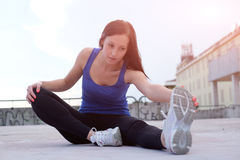 Young attractive woman working out Royalty Free Stock Photo