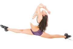 Young attractive women showing her flexibility Stock Photography