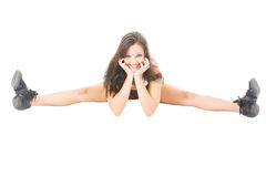 Young attractive women showing her flexibility Royalty Free Stock Image