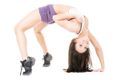 Young attractive women showing her flexibility Royalty Free Stock Photography