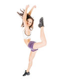 Young attractive women showing her flexibility Stock Image