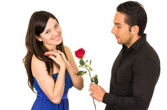 Young attratctive couple in love dating Royalty Free Stock Photo