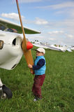 Young aviator Stock Image