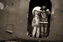 Young aviators Royalty Free Stock Images