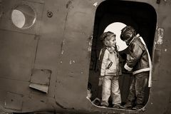 Young aviators Stock Image