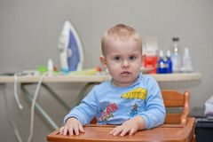 Young baby boy at home Stock Image