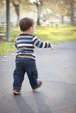 Young Baby Boy Walking in the Park Royalty Free Stock Photos