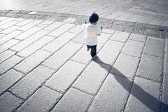 Young baby while exploring space around Stock Photography
