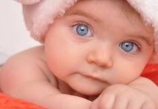 Young Baby Looking at You Royalty Free Stock Photography