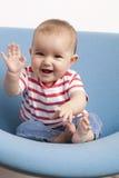 Young baby saying hello Stock Photos