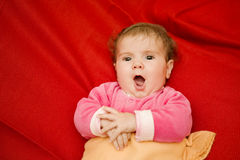 Young baby singing Royalty Free Stock Photography