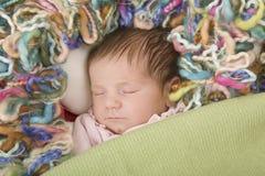 Young baby sleeping Stock Photography