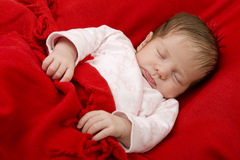 Young baby sleeping Royalty Free Stock Photo