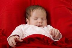Young baby sleeping Stock Image