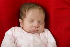Young baby sleeping Royalty Free Stock Photos