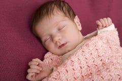 Young baby sleeping Royalty Free Stock Image