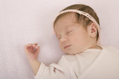 Young baby sleeping Royalty Free Stock Photography