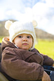 Young baby in winter clothes Royalty Free Stock Photos