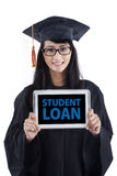 Young bachelor with student loan Royalty Free Stock Images