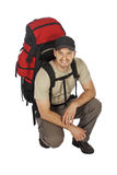 Young backpacker Stock Photo