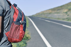 Young backpacker man Stock Images