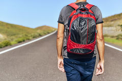 Young backpacker man Stock Image