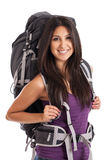 Young backpacker portrait Royalty Free Stock Images