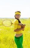 Young badminton player Royalty Free Stock Photos