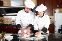 Young bakers Stock Image