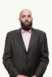 Young bald man with a beard Royalty Free Stock Photography