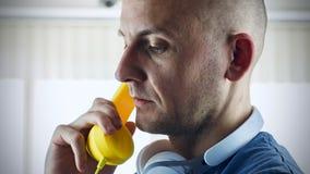 Men talking phone Royalty Free Stock Image