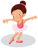 Young ballerina. Cartoon vector illustration Royalty Free Stock Photo