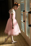 Young ballerina. In tutu before appearance Royalty Free Stock Photos