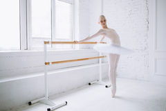 Young ballerina in ballet class Stock Photography