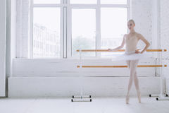 Young ballerina in ballet class Royalty Free Stock Photography