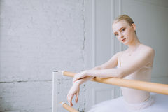 Young ballerina in ballet class Royalty Free Stock Image
