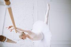 Young ballerina in ballet class Stock Image