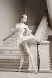 Young ballerina in ballet pose Royalty Free Stock Image