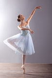 Young ballerina in ballet pose classical dance Royalty Free Stock Photo