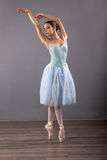 Young ballerina in ballet pose classical dance Stock Images
