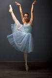 Young ballerina in ballet pose classical dance Royalty Free Stock Photos