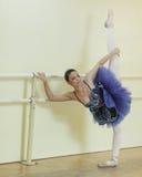 Young ballerina on the bar Stock Photos