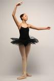 Young Ballerina in black tutu Stock Photography